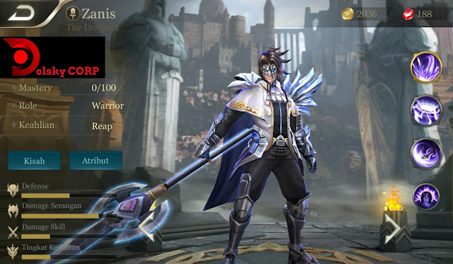 Hero Zanis ( The Dragon ) High Attack Builds Set up Gear Mobile Arena