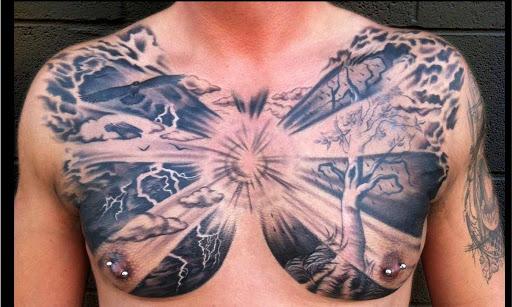 Dark Chest Tatuagens para Homens