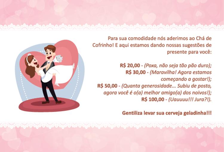 Modelos De Convite Para Chá De Cofrinho Solteiras Noivas Casadas