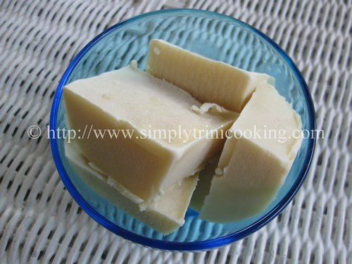 coconut ice block