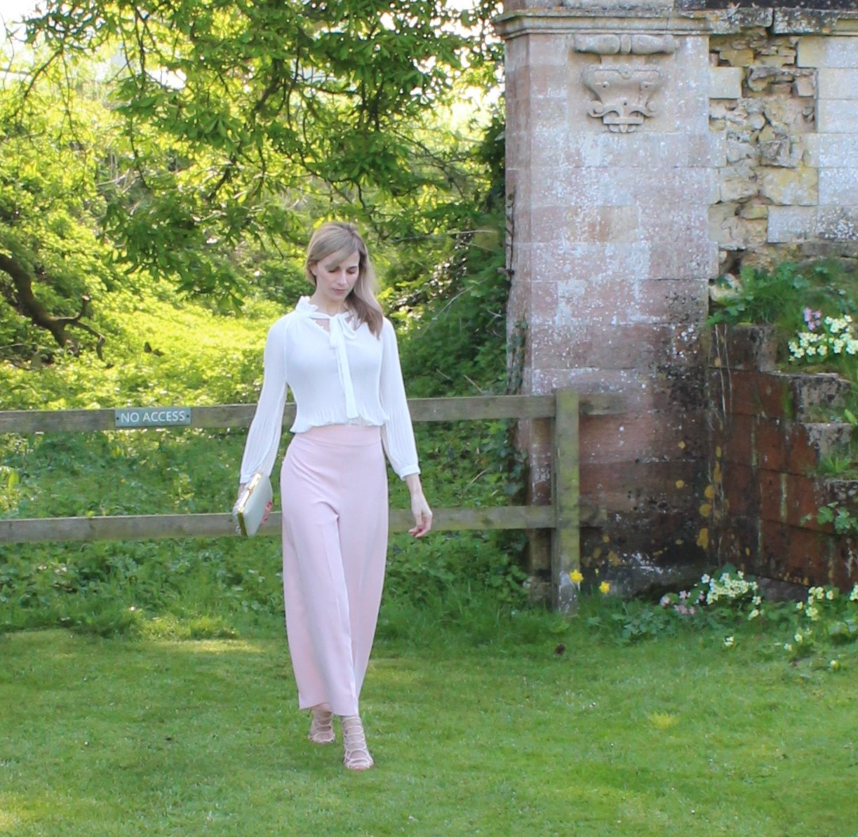 Blush Pink OOTD featuring Zara culottes - 2