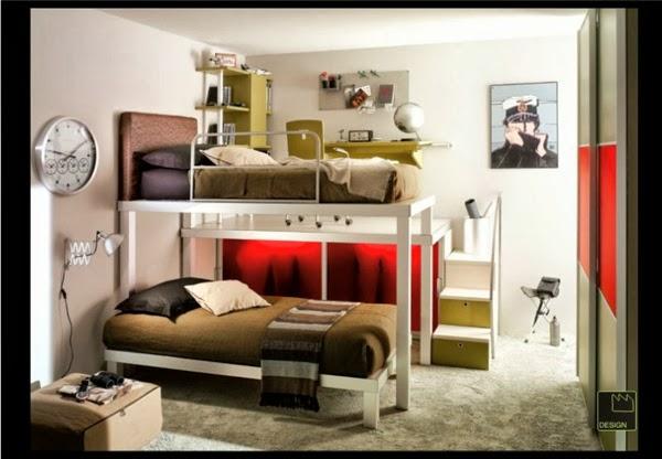 Dormitorios peque os para hermanos adolescentes for Colores para dormitorios pequenos