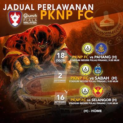 Live Streaming PKNP vs Pahang Piala Malaysia 18.8.2018