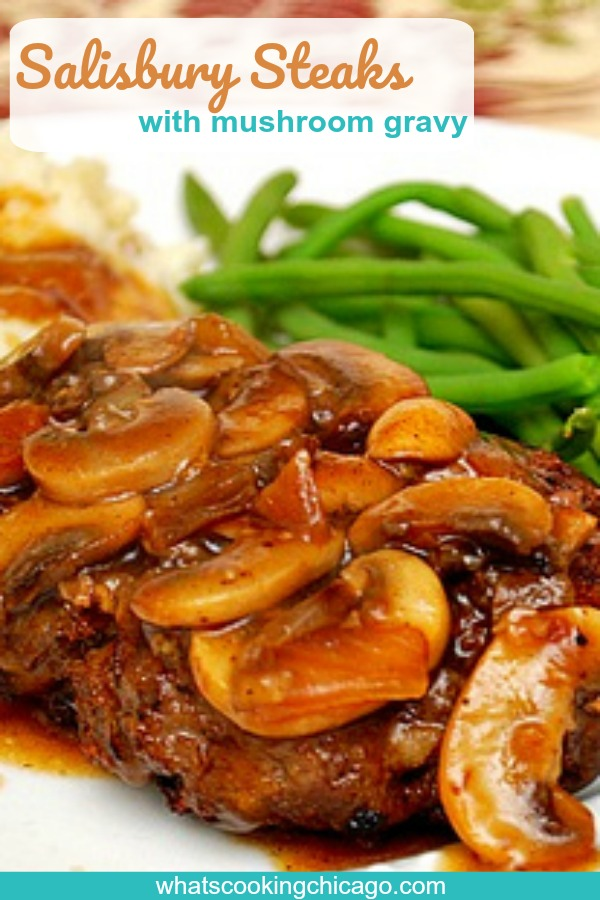 titled image (and shown): Salisbury Steaks with Mushroom Gravy