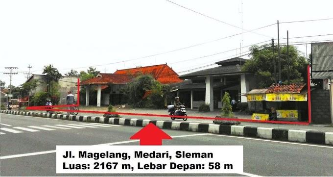 Tanah Bonus Bangunan sangat strategis pinggir jalan raya Magelang Medari Sleman
