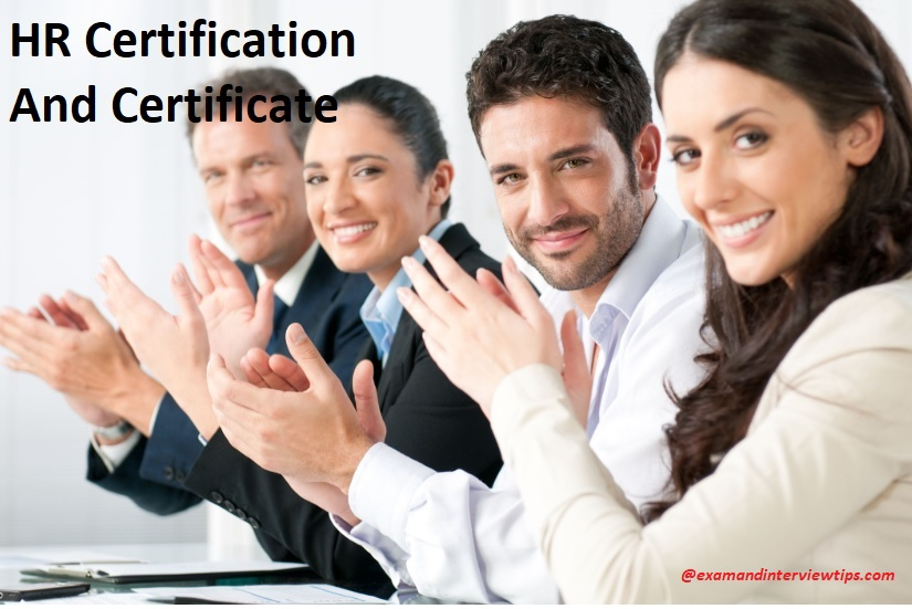 The Distinction between a HR Certification and Certificate