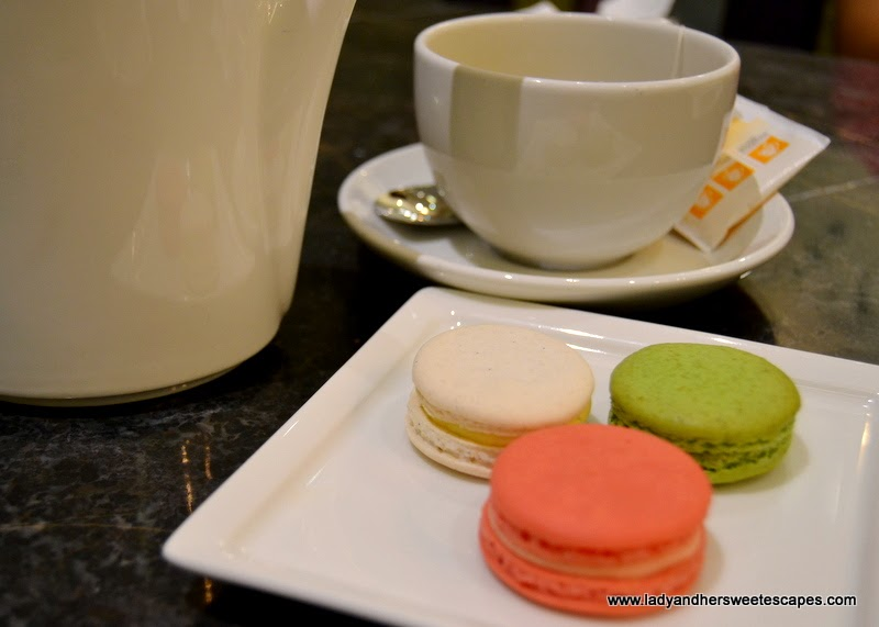 French Macarons and Tea at RICH Cafe