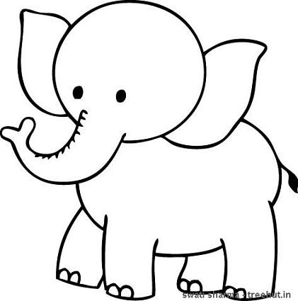 Baby elephant coloring pages animal for Elephant color page
