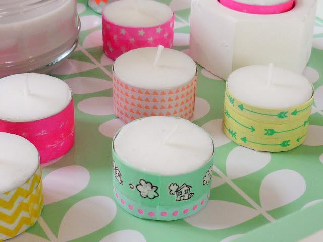 Do it yourself - customiser une bougie avec du masking tape - decoration