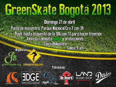 Poster del Green Skate 2013