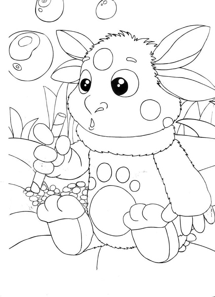 Раскраски деткам: розмальовки Лунтик