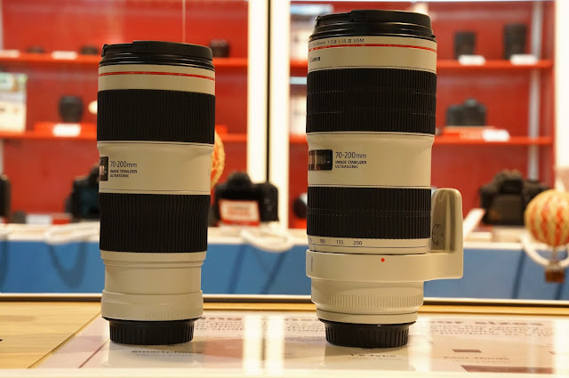 canon 70-200 f2.8 and f/4 telephoto lens