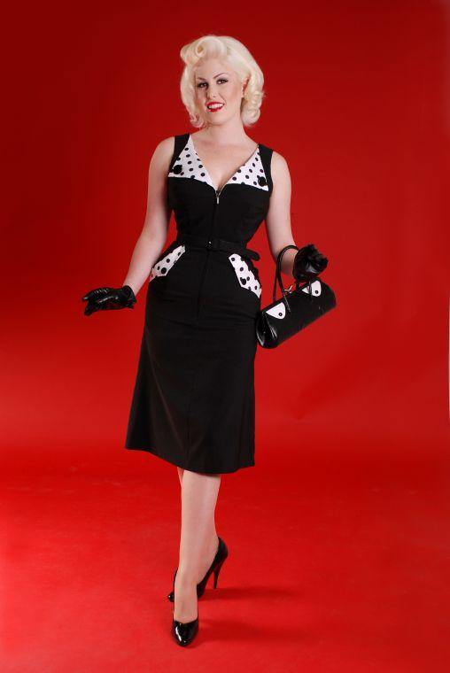 Fashion World Palace: Brigit Black and White Pin Up Dress ...