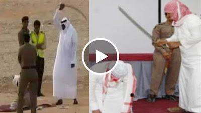 شاهد كيف يتم تنفيذ حكم القصاص بالسعودية ! فيديو لأصحاب القلوب القوية فقط !