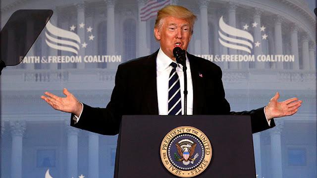 """Trump: """"Estamos bajo asedio, pero venceremos"""""""