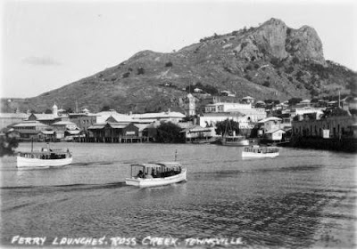 Ross Creek, Townsville,1932. This was the scene of several fatal shark attacks. (State Library of Qld)
