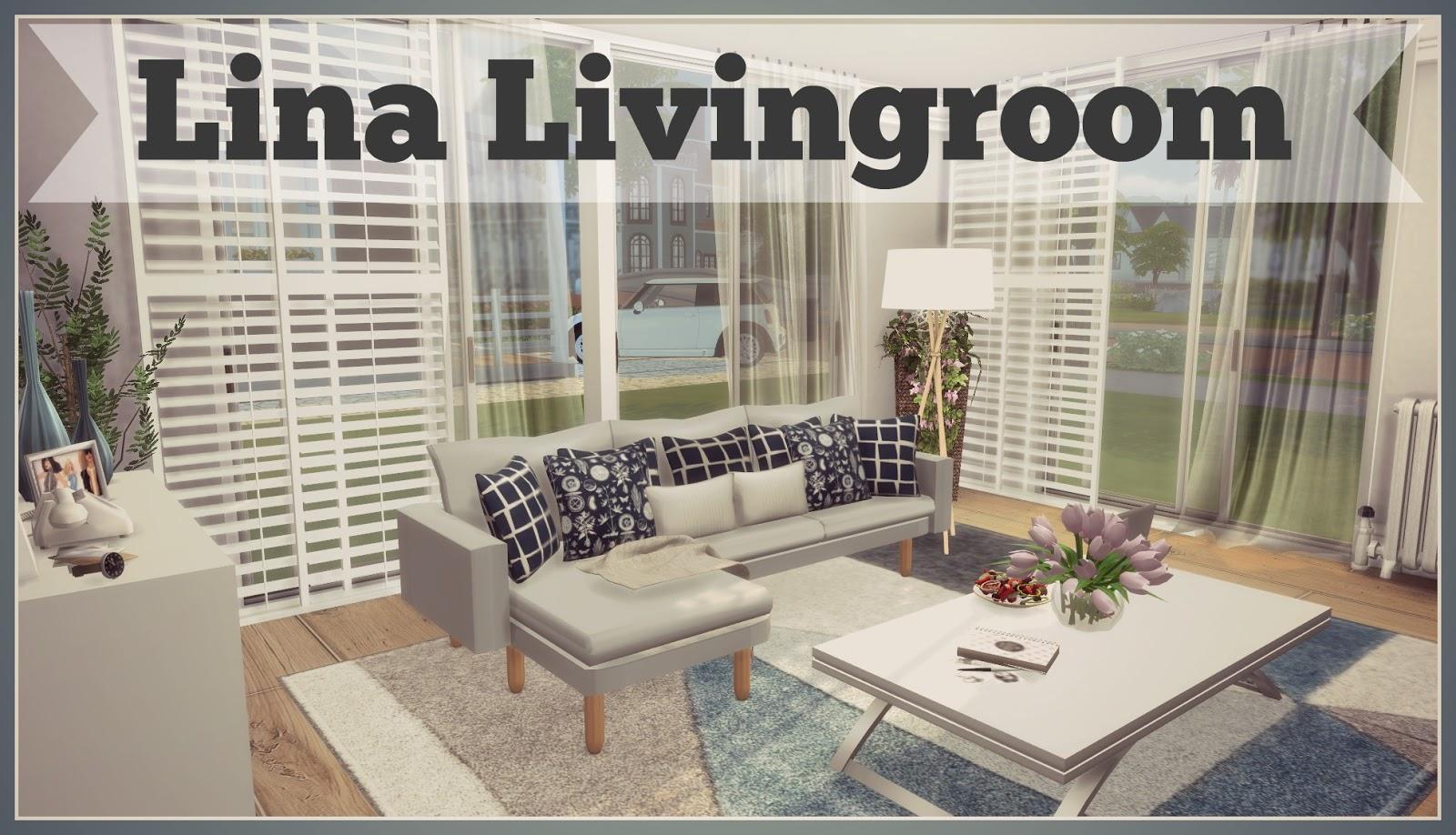 Sims 4 - Lina Livingroom (Download + CC Creators Links) - Dinha