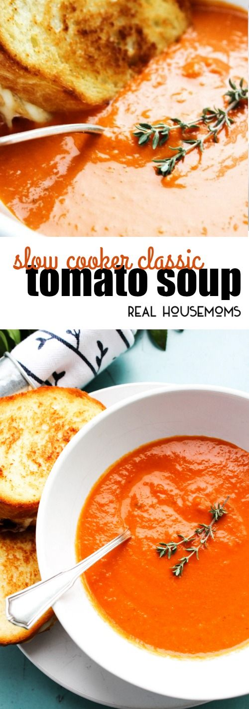 Slow Cooker Tomato Soup Classic