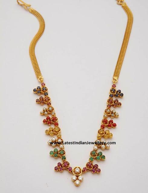 Multi Gemstone Simple Necklace