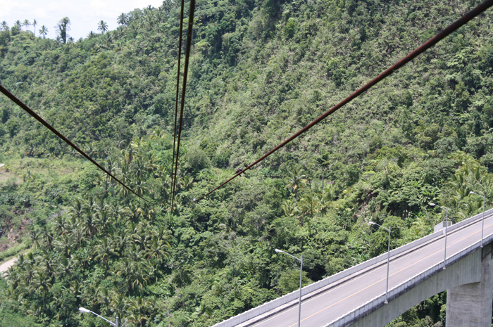 Old zip lines traversing Agas-Agas bridge