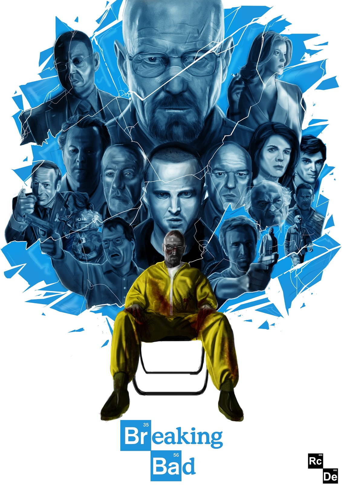 rcdesign illustration a poster of the amazing breaking bad in a perfect world everybody. Black Bedroom Furniture Sets. Home Design Ideas