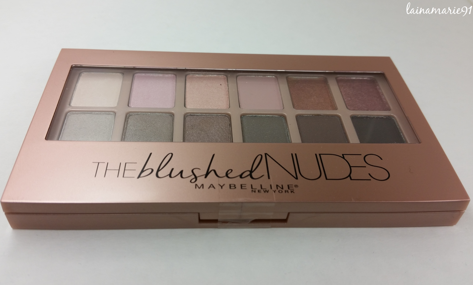 Lainamarie91 Maybelline The Blushed Nudes 12 Pan -6954