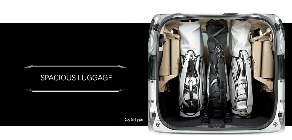 alphard spacious luggage