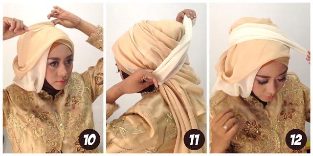 Kreasi Tutorial Hijab Paris Dua Warna untuk Acara Wisuda