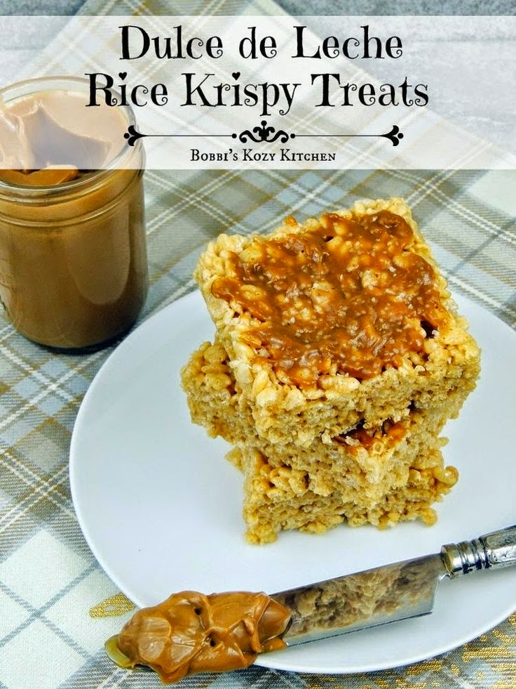 Dulce de Leche Rice Krispy Treats