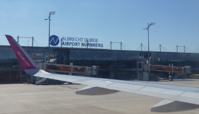 Ankunft am Nürnberger Flughafen