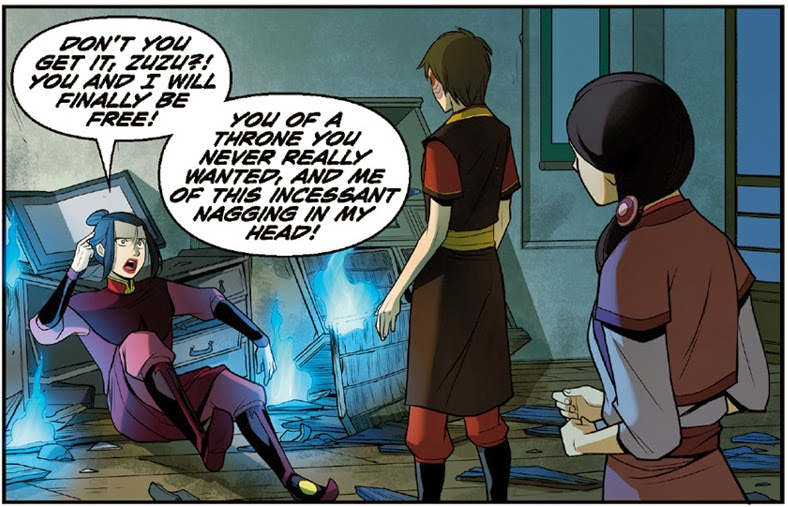 Avatar The Last Airbender: The Search Part 3 Writer: Gene Luen Yang, Michael Dante DiMartino, Bryan Konietzko Artist: Gurihiru Letterer: Michael Heisler  Avatar: The Last Airbender created by Michael Dante DiMartino and Bryan Konietzko