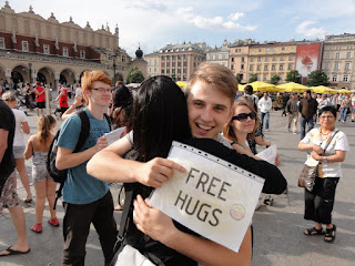 Still going free hug crazy (Photo courtesy of Alvin C.)