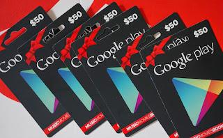 Cara Dapat Kode Voucher Playstore Gratis (Google Play Gift Card)