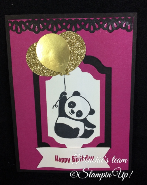 Party Panda, Sale a Bration and Occasion Stampin'Up! 2018, Frenchie stamps in the Spotlight,