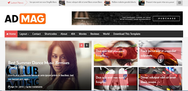 Ad Mag SEO Friendly and Responsive Blogger Template