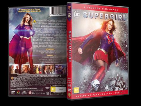 Capa DVD Supergirl - Segunda Temporada - Disco 1 (Oficial)