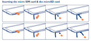 Inserting the micro SIM card & the microSD card