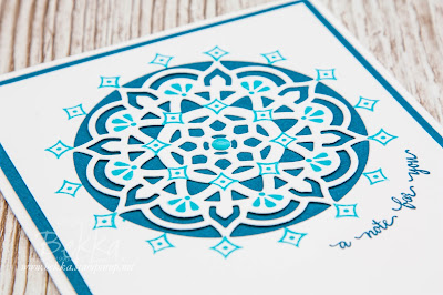 Beautiful Blues Eastern Palace Note Card.  Buy the Stampin' Up! UK Supplies you need to make this here