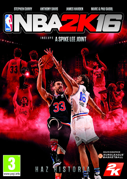 NBA 2K16 Cover Pau & Marc Gasol