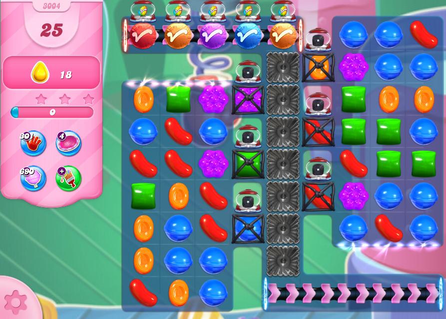 Candy Crush Saga level 3004
