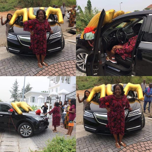 Linda Ikeji gives mum N19m brand new Acura SUV as gift