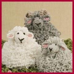 Ovejas peludas a crochet