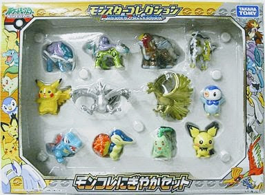 Chikorita figure Takara Tomy MC HGSS figures set