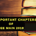 Important chapters of JEE Main 2018 blog image