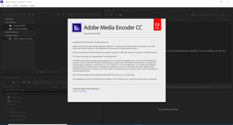 Adobe Media Encoder CC 2019 v13 0 1 12 + Crack - My PSD Shop