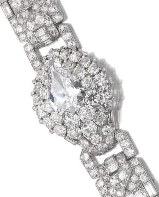 Important Art Deco diamond bracelet, Cartier, circa 1935.