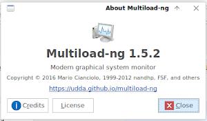 Memasang Multiload Ng di XFCE untuk Memonitor Sistem Komputer