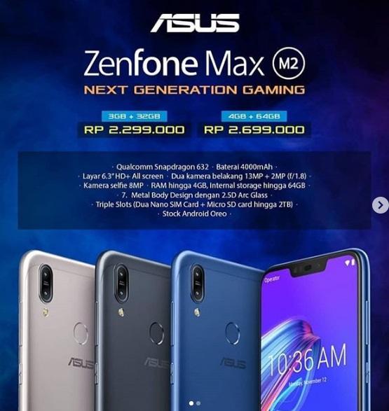 Harga Asus ZenFone Max M2 Terjangkau - Blog Mas Hendra