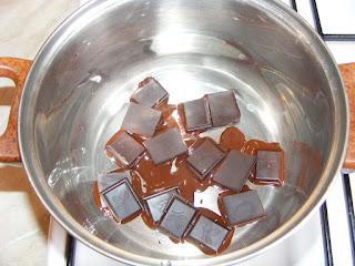Reteta ciocolata topita la bain marie,