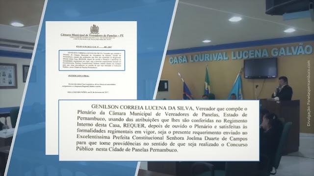 Legislativo de Panelas-PE recebe resposta sobre a realização de concurso público